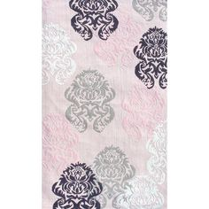 Brocade Pink Teen Area Rug