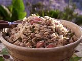Giada's Orzo Salad, with fresh basil & mint. My go-to recipe for summer gatherings.
