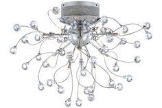 Possini Chrome Crystal Balls 15 3/4-Inch-H Ceiling Light