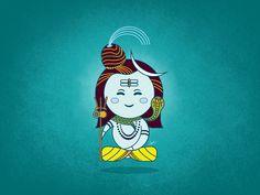 Lord Shiva Illustration designed by Saurabh Singh Rajput. Arte Shiva, Shiva Art, Krishna Art, Hindu Art, Lord Shiva Hd Wallpaper, Dog Paw Art, Baby Ganesha, Shiva Parvati Images, Shiva Photos