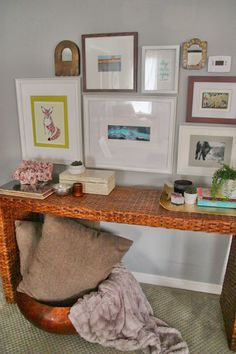 Diy Console Entry Table With Gallery Wall Gallerywall Picture Placement On