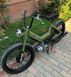 Tomos Moped, Vespa Scooters, Custom Moped, Custom Bikes, Vintage Moped, Small Motorcycles, Honda Cub, Cafe Bike, Mini Bike
