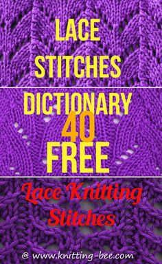 Lace Stitches Dictionary