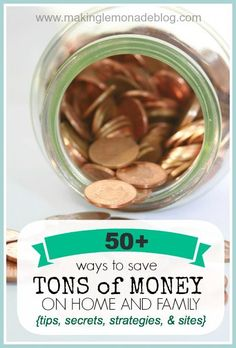 MUST READ 50+ Secrets, Tips and Tricks for Saving Money on EVERYTHING for your home-- from decor to furniture to clothing to groceries! So many great ideas to save you $$$! Money Saving Tips, #SaveMoney, Saving Money