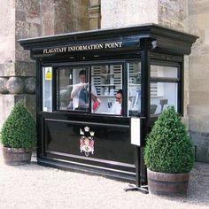 Bespoke fruit and vegetable kiosks with display units Kiosk Design, Cafe Design, Building Systems, Building Design, Guard House, Outdoor Cafe, Coffee Shop Design, Small Cafe, Cafe Shop
