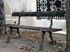 Banc au cimetière.