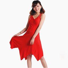 Woman's Stage Latin Dance Costume Sleeveless V-neck Dress Waist Shaped Modern Rumba Tango Dancewear