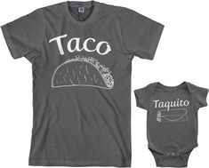 Threadrock Taco & Taquito Infant Bodysuit & Men's T-Shirt Matching Set (Baby: Hot Pink Funny Baby Clothes, Funny Babies, Cute Babies, Babies Stuff, Babies Clothes, Men And Babies, Mom Clothes, Look Girl, Everything Baby