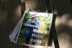 Super cute: prayer cards w/scriptures on back. LOVE.