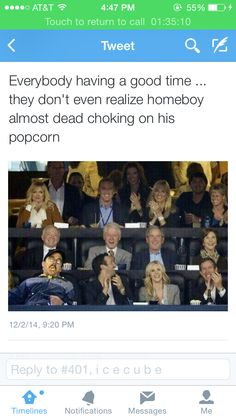 The Clintons in the back probably laced the popcorn with cyanide cuz he had some dirt on them