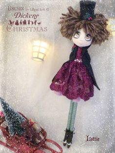 Lottie Urchin Art Doll by Vicki at Lilliput Loft