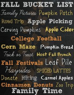 One thing I love to do when Fall starts is make a bucket list. I love fall, and all the activities that come along with it; So for the last couple years I have been putting together a bucket ...