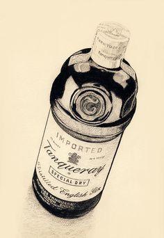 Before Designer Gin Drawing  - Before Designer Gin Fine Art Print