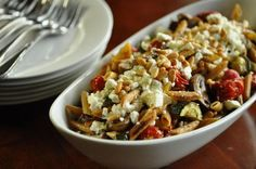 Crispy penne with roasted vegetables #dinner #stribtaste