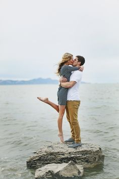 what are you doing on a rock in the middle of the ocean    cute couples are so weird