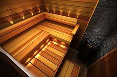 Sun Sauna | Suunnittelutyökalu Sauna Design, Diy Design, Interior Design, Steam Room, Saunas, Home Spa, Jacuzzi, Architecture Design, Sweet Home