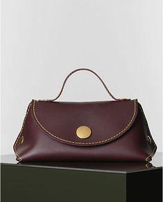 Celine Burgundy Orb Single Tote Bag - Winter 2014