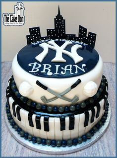 The PIANO PLAYING , GOLF NUT , YANKEE FAN WHO LOVES NYC Birthday Cake  by THE CAKE DON