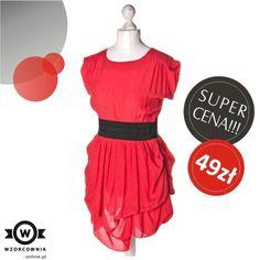 SUPER CENA: #Atmosphere - #Sukienka z oryginalnym paskiem