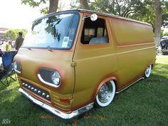 Vans are cool Chevy Trucks, Pickup Trucks, Ford E Series, Old School Vans, Vanz, Panel Truck, Cool Vans, Vintage Vans, Custom Vans