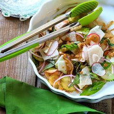A Cook's Memoir - Inspired recipes from our travels to many exotic lands: Asian Salad with Peanut and Rojak Paste