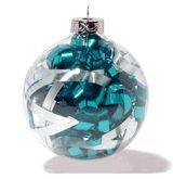 what to fill clear glass ornament balls with