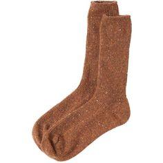 Toast Cashmere Fleck Socks ($73) ❤ liked on Polyvore featuring intimates, hosiery, socks, cinnamon, cashmere socks, ribbed socks and cashmere wool socks