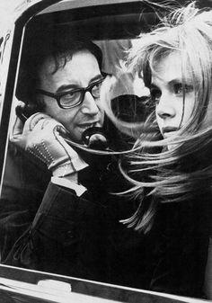 "theyroaredvintage: "" Britt Ekland and Peter Sellers, 1967. """