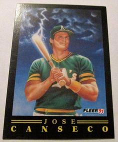 1991 FLEER POWER JOSE CANSECO SP #Athletics #OaklandAthletics