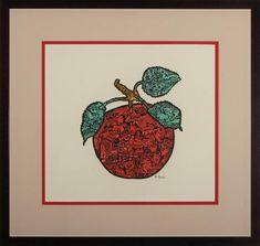 Fruit of Plenty | Etsy Paper Mosaic, Vintage Wine, Art For Sale, Doodles, My Arts, Ink, Fruit, Artwork, Etsy
