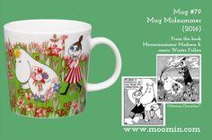 79 Moomin mug Midsummer Moomin Mugs, Tove Jansson, Marimekko, My Childhood, Trays, History, Tableware, Books, Character