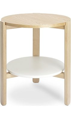 Umbra Hub Side Table, White/Natural Best Price