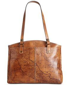 Topped with ample shoulder straps for comfortable carry, this distinctive Italian leather tote is great for organizing documents and devices on-the-go. By Patricia Nash.   Imported   Leather   Double