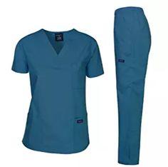 08de64585a1 Dagacci Scrubs Medical Uniform Women and Man Scrubs Set Medical Scrubs Top  and Pants Polyester Cotton