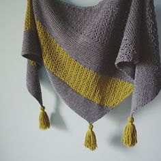 The shawl is worked flat from tip to edge, and it's triangle shape.
