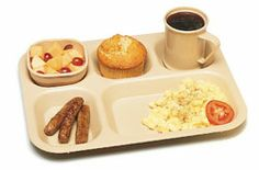 """Carlisle Tray 5-compartment - PCD801-25 Case Pack: 24  Tray, 5-compartment, 13-3/4"""" x 10-5/8"""", polycarbonate, tan, NSF"""
