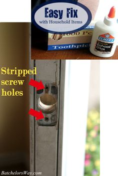 How to fix a stripped screw hole with household items