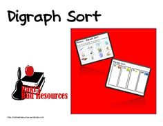 Are your students working on differentiating between digraph sounds?  Here is a sort that will allow you to work on this important skill.  Students...