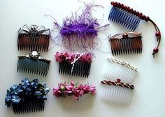 How to Craftily Make Designer Hair Combs thumbnail