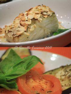 Bacalhau com crosta de Amêndoa e Legumes grelhados com Alecrim