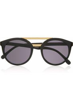 Black Lagoon round-frame acetate sunglasses