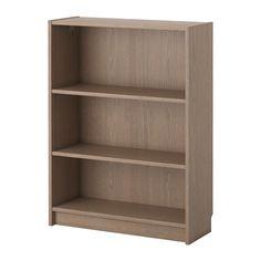 BILLY Bücherregal IKEA Versetzbare Einlegeböden. Man kann bei wenig Platz mit einem Element beginnen und es je nach Aufbewahrungsbedarf erweitern.