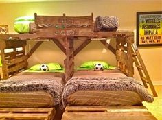 For matty. ;) pallet bunk beds for the boys! For Amanda Robinson.