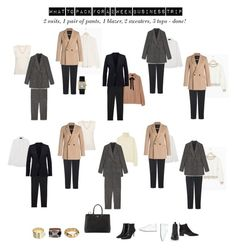 """""""what to pack for my two week business trip"""" by pink-cashmere on Polyvore featuring Mode, La Perla, Officine Creative, Acne Studios, Uniqlo, Prada und The Kooples"""