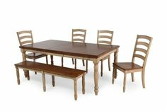 winners only quails run 6 piece dining set mathis brothers room