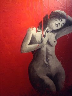 """Painting: """"Sublime Muse"""", by Salvadoran Artist, Mario Tevez. This art piece, is part of  my collection of paintings by Salvadoran artists, dedicated to the beauty of women that makes you wax poetic."""