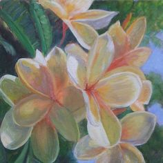 Hawaiian Flowers Painting  - Hawaiian Flowers Fine Art Print