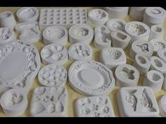 soguk porselen hamuru nasil yapilir - YouTube Decoupage, Shabby Chic Crafts, Art Deco Furniture, Pasta Flexible, Air Dry Clay, Diy Clay, Christmas Printables, Clay Art, Soap Making