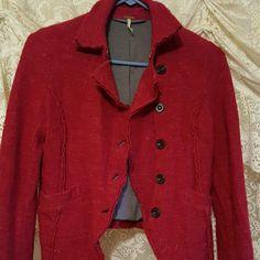 Free People Red Jacket
