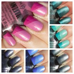 The Tranzitions Collection is 6 polishes that change color when you apply top coat to them. CHECK THEM OUT!